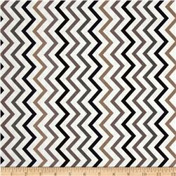 Michael Miller Mini Chic Chevron Tobacco