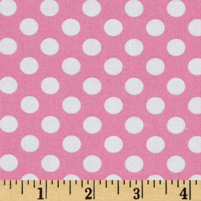 Kaufman Spot On Medium Dot Pink