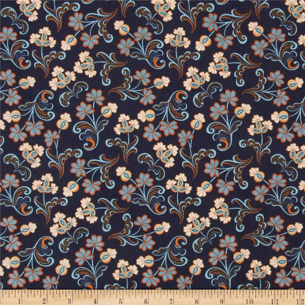 Modern lace reticella navy discount designer fabric for Decorator fabric