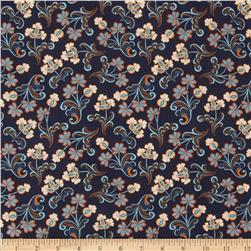 Modern Lace Reticella Navy