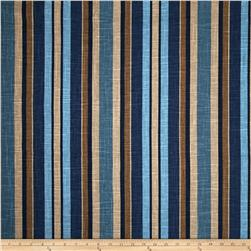 Jaclyn Smith 02106 Art Stripe Blend Lagoon