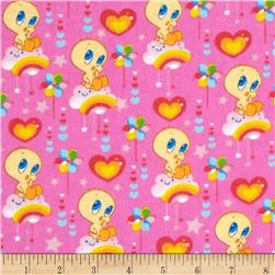 Baby Tweety Flannel Cloud Nine Pink