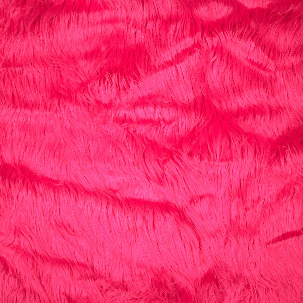 Shannon Faux Fur Gorilla Hot Pink - Discount Designer Fabric ...