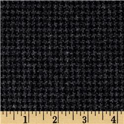 Wool Blend Melton Fancy Mini Houndstooth Gray/Black