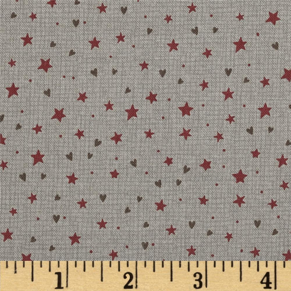 Winter Village Stars & Hearts Taupe