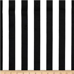 Broadcloth Blend Stripe Black/White