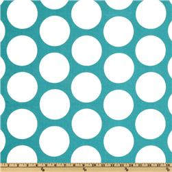 Premier Prints Dandie Dot True Turquoise Fabric