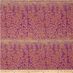 Enchantment Metallics Large Vines Purple Fabric
