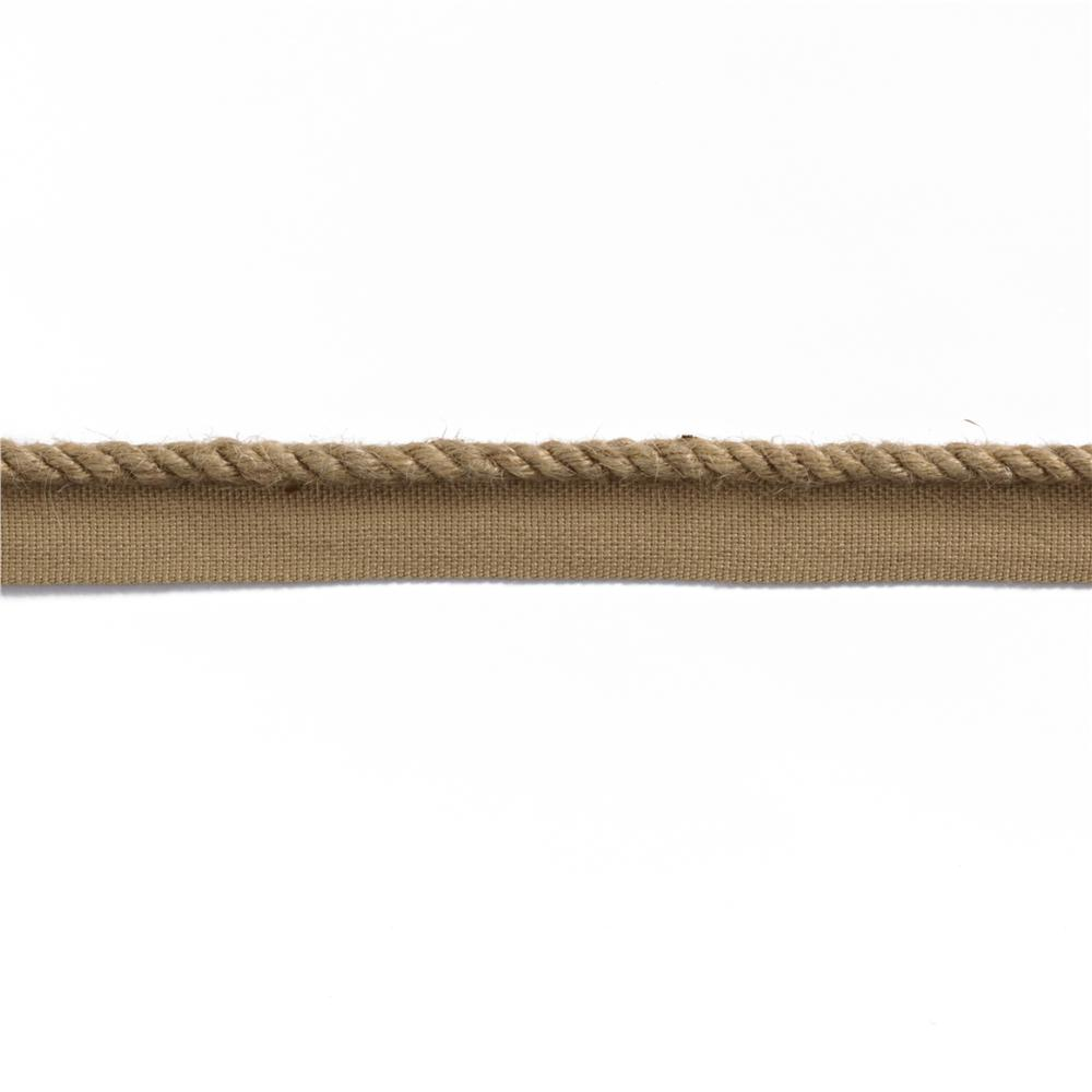 "Duralee 1/4"" Jute Lip Cord Natural"