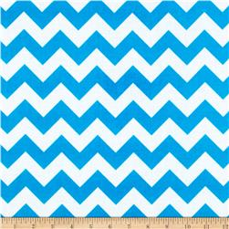 Riley Blake Laminated Cotton Chevron Neon Blue