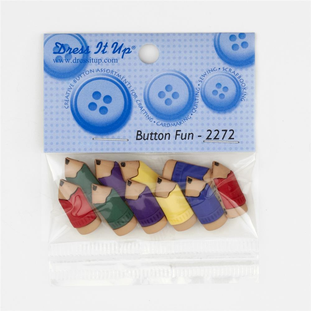 Dress It Up Embellishment Buttons  Primary Pencils