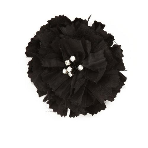 Florentina Jeweled Brooch 4'' x 4'' Black