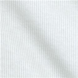 Designer Stretch Cotton Rib Knit White