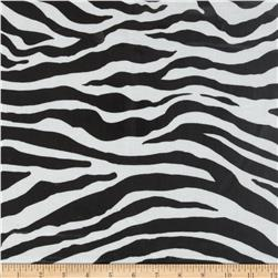 Michael Miller Zebra Stripe Laminated Cotton Black
