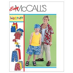 McCall's Children's/Boys' Shirt Tank Top Pull-On Cropped Pants