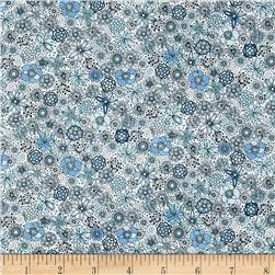 London Calling Lawn Floral Burst Blue
