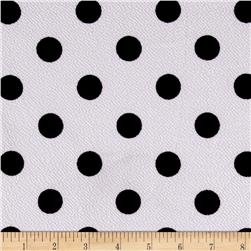 Liverpool Double Knit Print Dots White Ground/Black