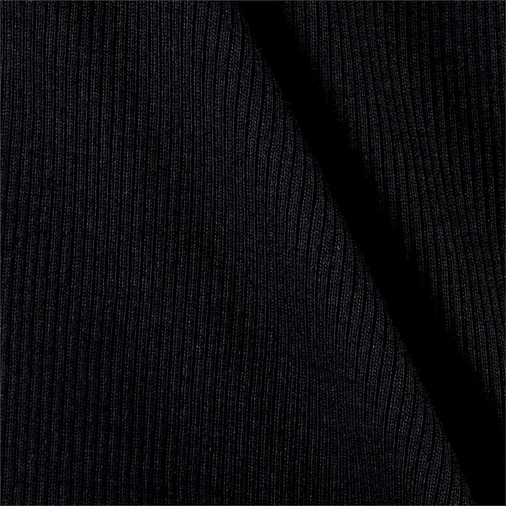Rib 2x1 Knit Solid Coal