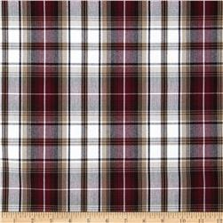 Polyester Uniform Plaid Khaki/Wine/Black