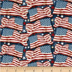 Star Spangled Bandana Freedom Flags Navy/Multi Fabric