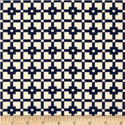 Robin Crepe Square Mosaic Blue/Cream