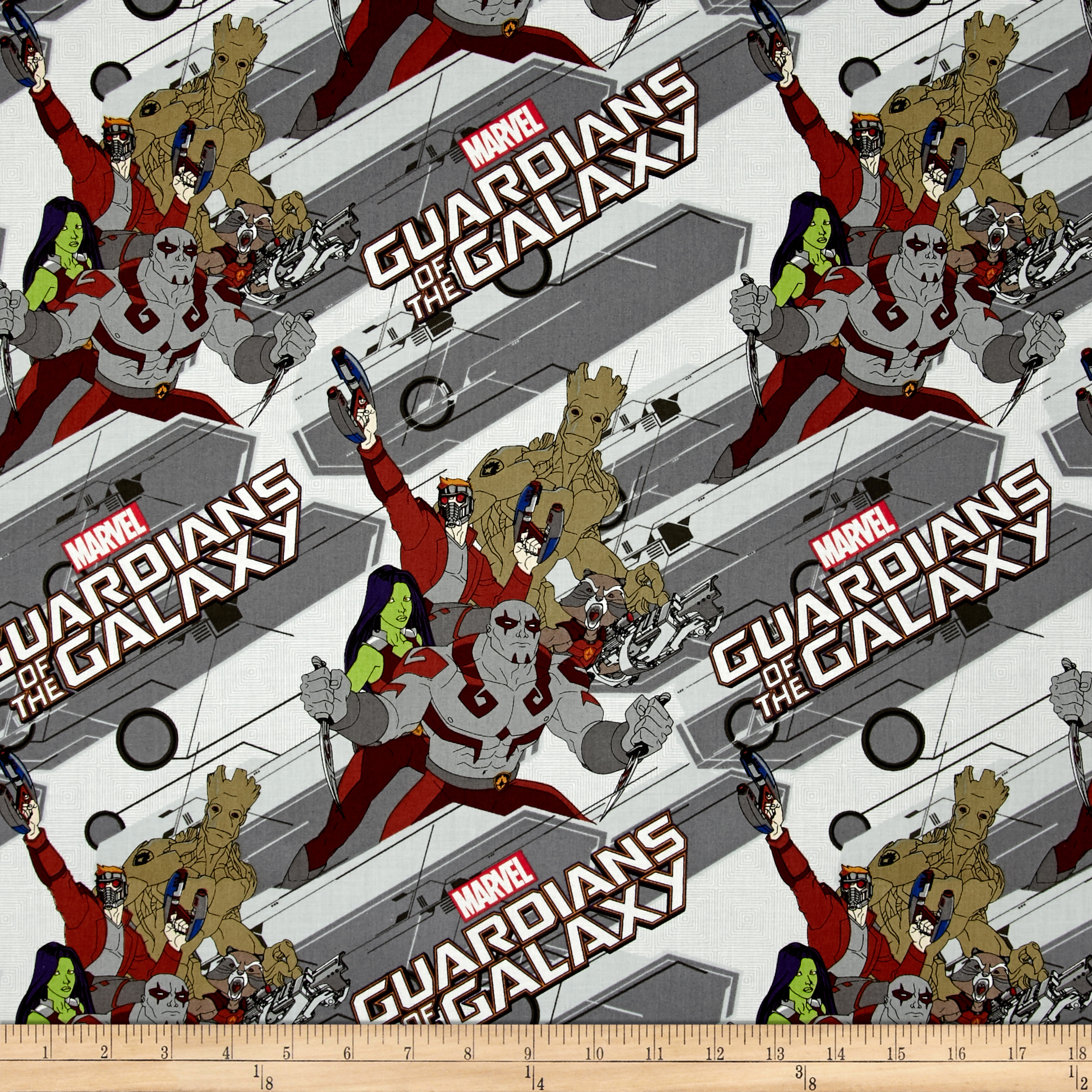 Image of Marvel Guardians of the Galaxy Characters Iron Fabric