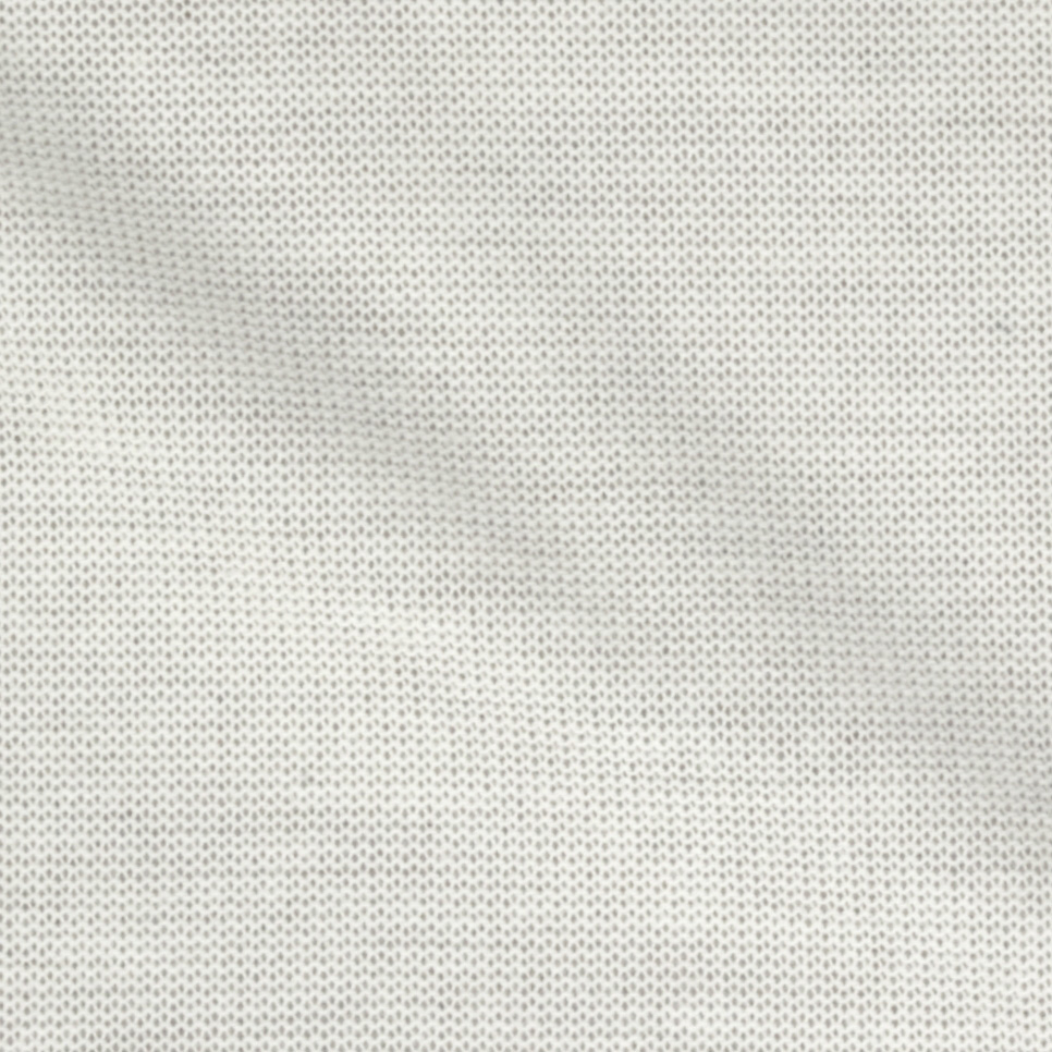 Stretch Hatchi Knit White Fabric