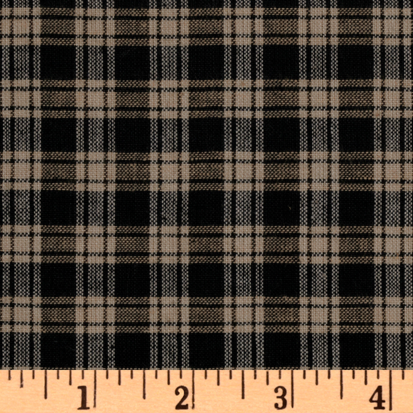 Homespun Basics Plaid Black/Natural Fabric