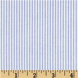 Kaufman Oxford Yarn Dyed Small Stripe Blue Fabric