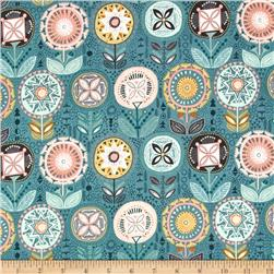 Sophia Flower Teal