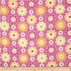 Fleece Flowers Pink