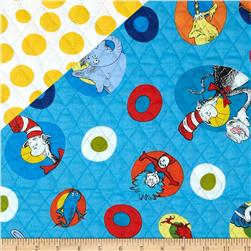 Dr. Suess Celebrate Seuss Character Circles/Dots Multi Fabric