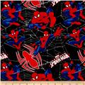 Marvel Ultimate Spiderman Flannel Spidey's Web Multi