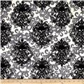 Michael Miller Skulls Out Goth Damask Stone