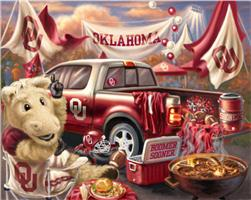 Collegiate Fleece Tailgating Panel University of Oklahoma Red
