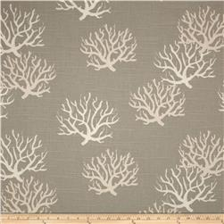 Premier Prints Isadella Coral Slub Coastal Grey/Natural Fabric
