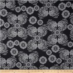 Sassafras Large Medallion Black