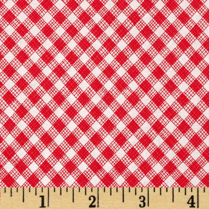 Timeless Treasures Sketch Gingham Red