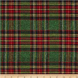 Vancouver Flannel Plaid Green/Red