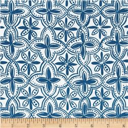 Ansley Home Decor Quarterfoil Blue