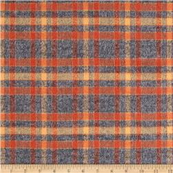 Kaufman Mammoth Flannel Plaid Rust