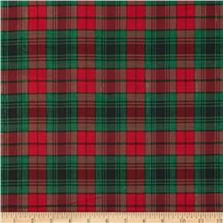 Holiday Blitz Medium Plaid Black/Green/Red Fabric
