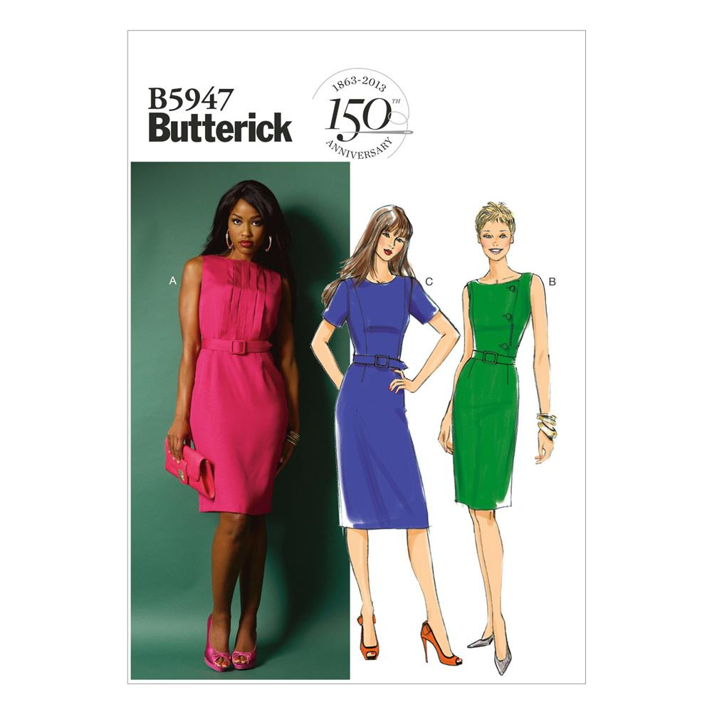 Butterick Misses'/Misses' Petite Dress and Belt Pattern B5947 Size B50