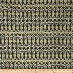 Rayon Lycra Jersey Knit Abstract Tan/Brown/Olive