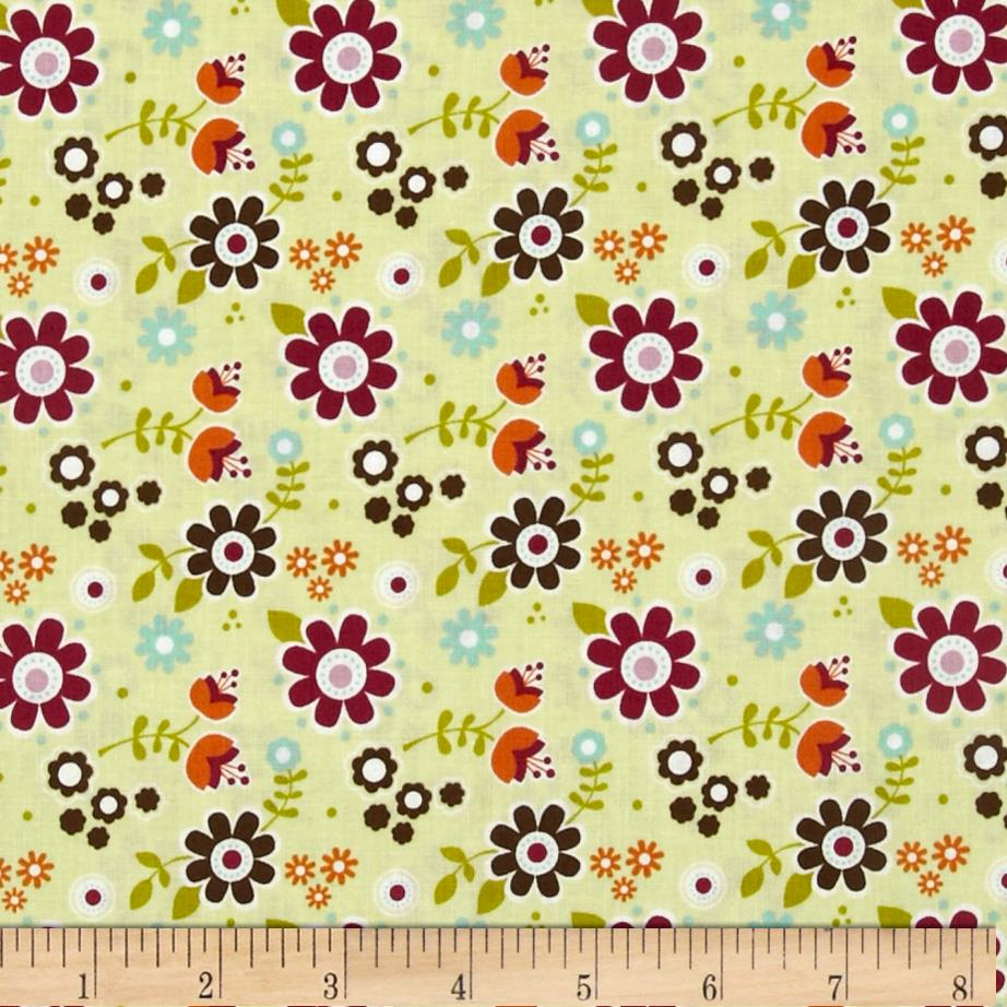 Riley Blake Little Matryoshka Floral Green
