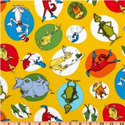 Celebrate Seuss Allover Yellow Fabric