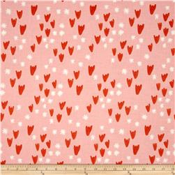 Cotton & Steel Clover Tulips Pink