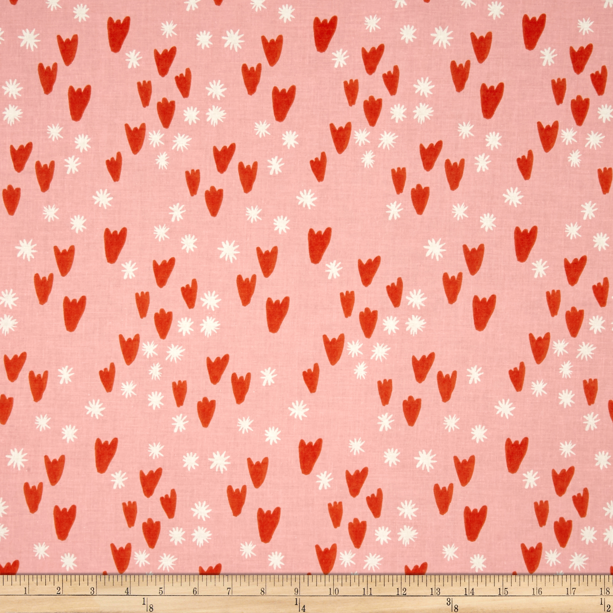 Cotton + Steel Clover Tulips Pink Fabric