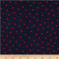Cock-A-Doodle-Doo Dots Navy/Red