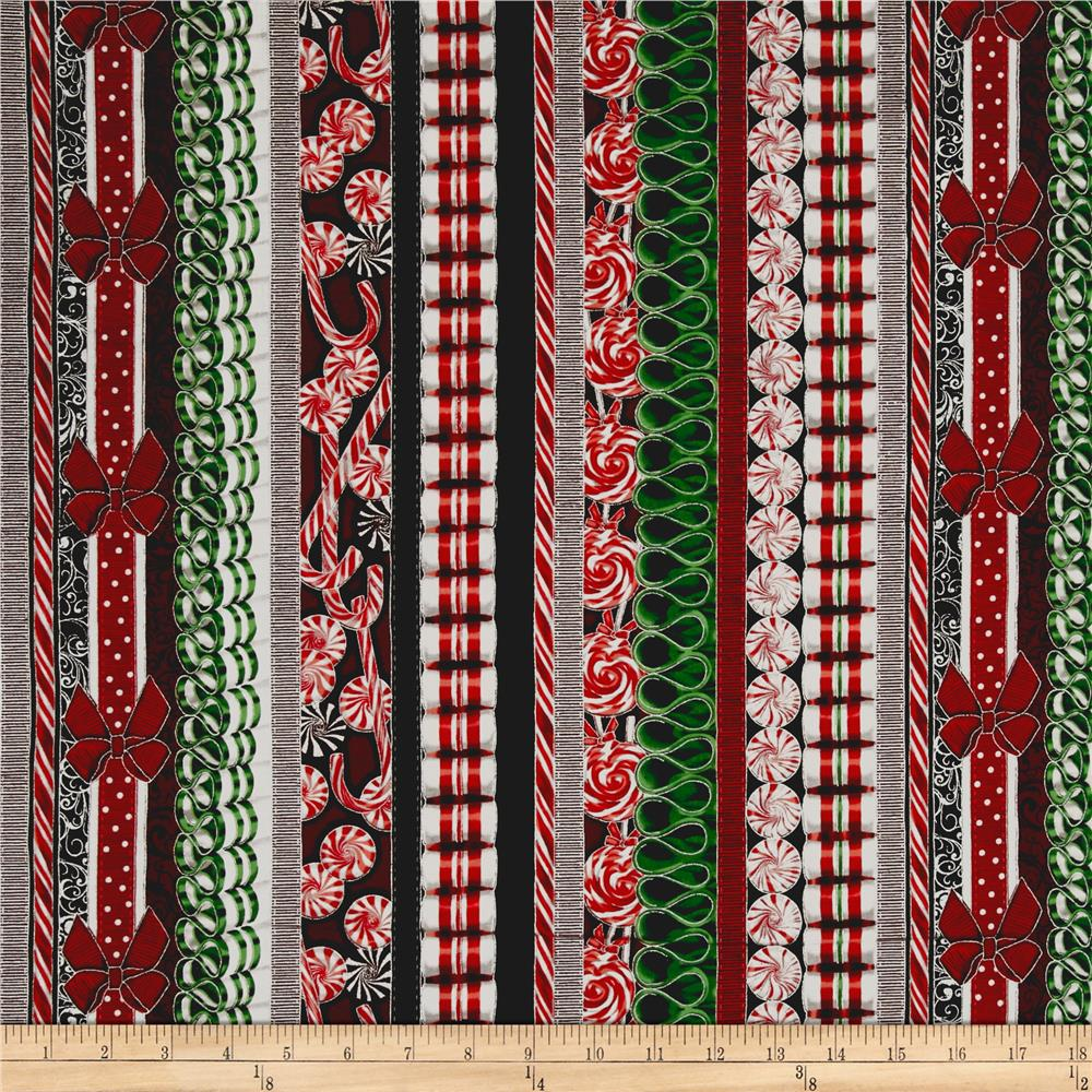 Suite Christmas Metallic  Land Of The Sweets Stripe Peppermint